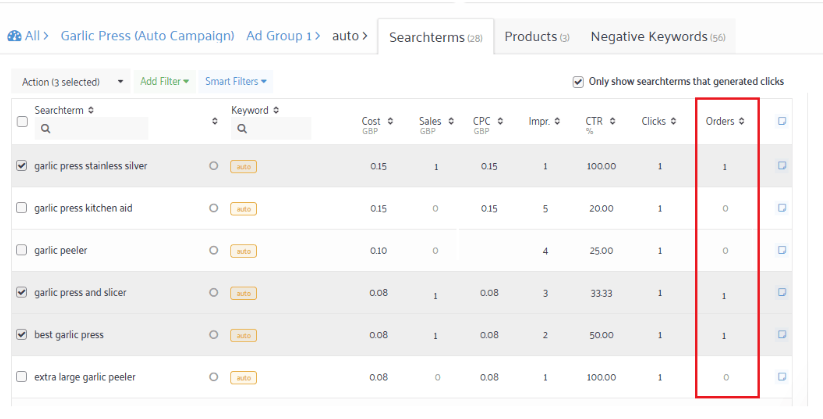 amazon sponsored products keyword optimization