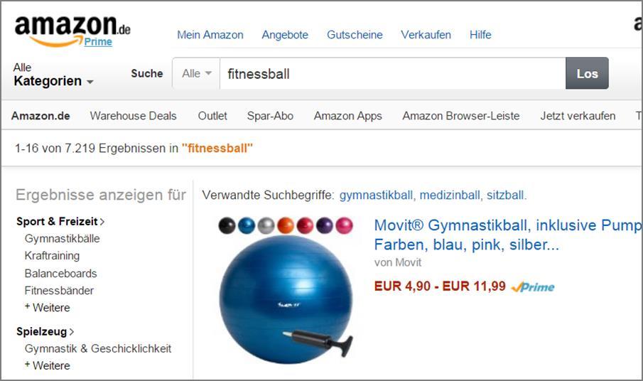 Amazon angebote keyworts auslesen