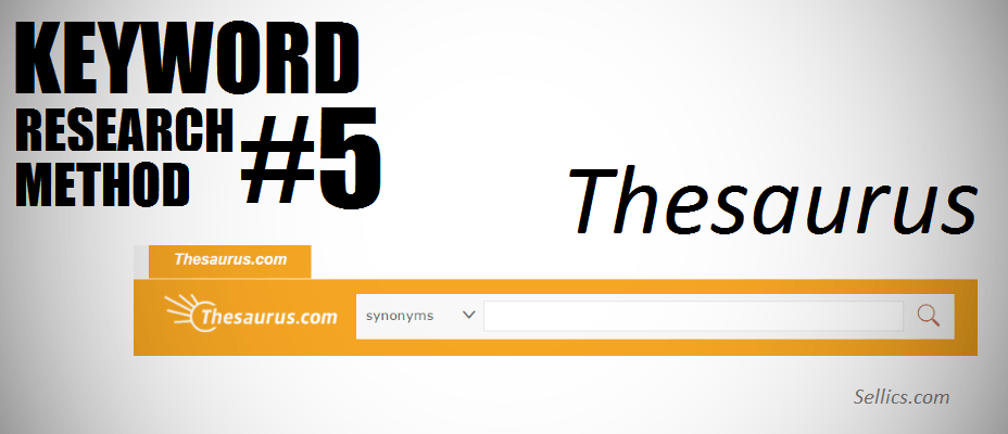 amazon keyword research method 5 - thesaurus