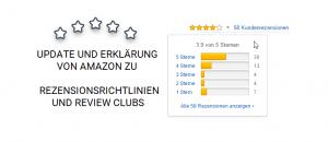 Update und Erklärung von Amazon zu Rezensionsrichtlinien und Review Clubs