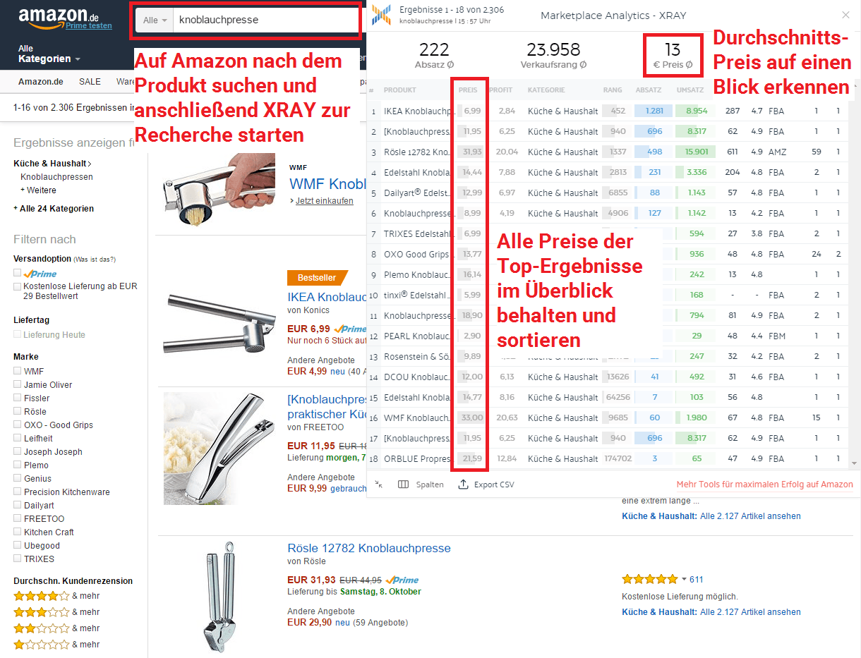 amazon fba rechner so finden sie die produkte mit dem gr ten profit. Black Bedroom Furniture Sets. Home Design Ideas
