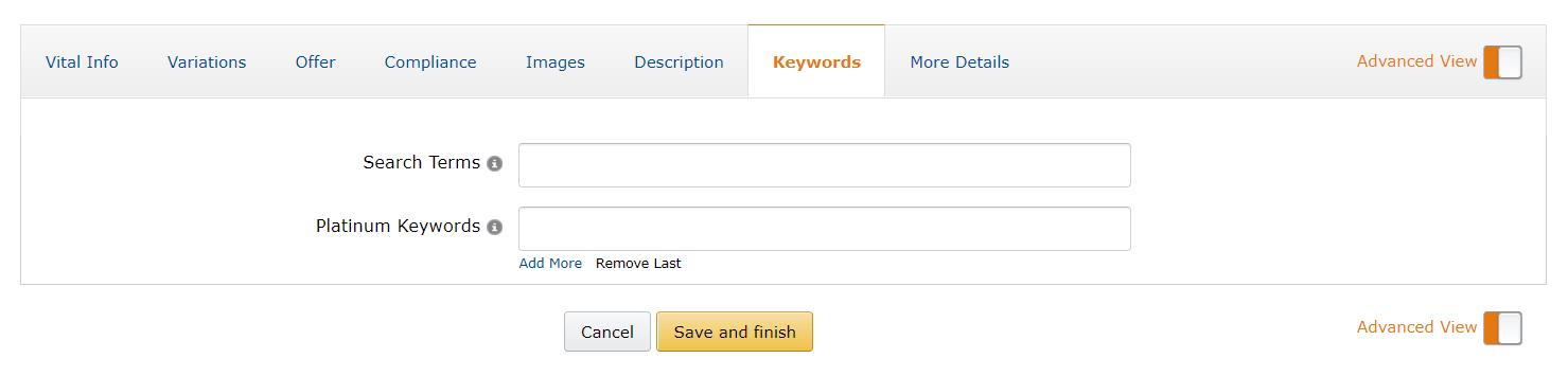 Amazon Seller Central Backend Keyword Searchterm Optimization