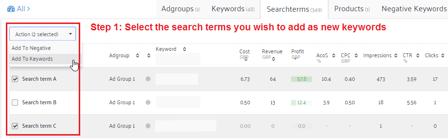 customer search terms Amazon PPC