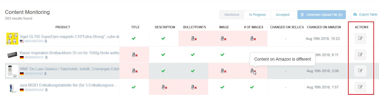 sellics amazon vendor content monitoring