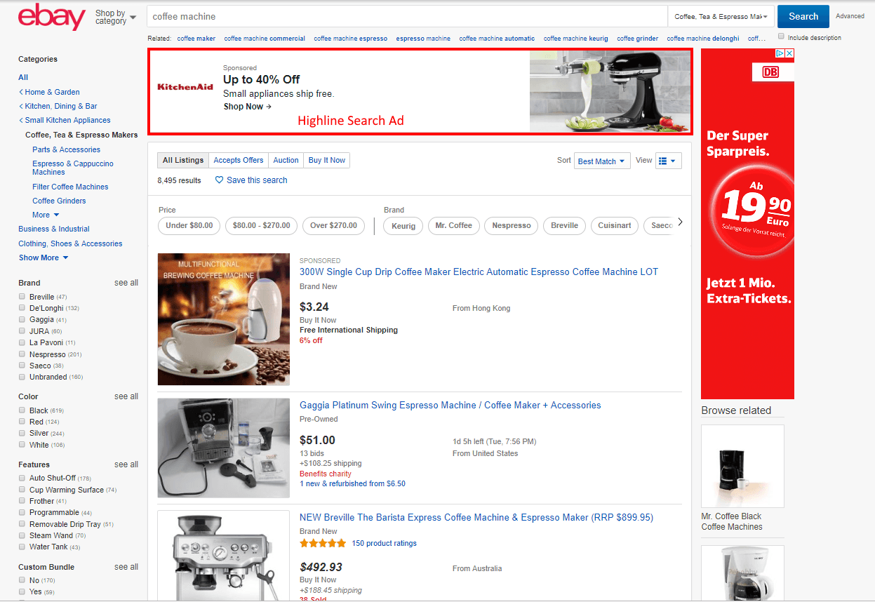 ebay highline search ads example