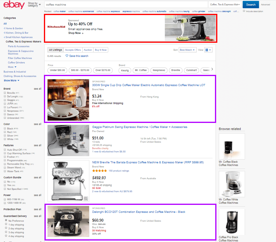 ebay advertisement placing example