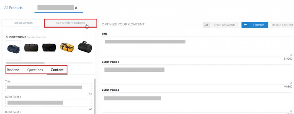 content optimization Amazon