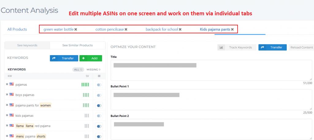 optimize multiple asins