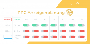 amazon ppc ad scheduling day parting anzeigenplanung