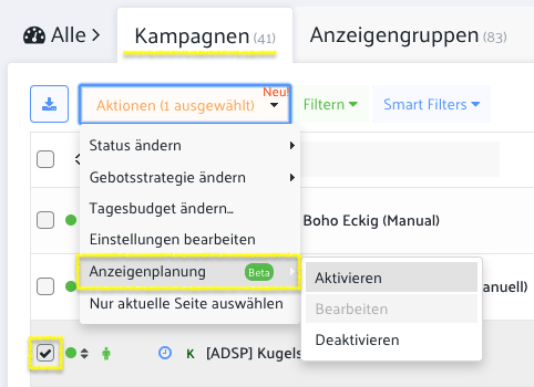 amazon ppc ad scheduling day parting anzeigenplanung campaign planning settings einstellungen