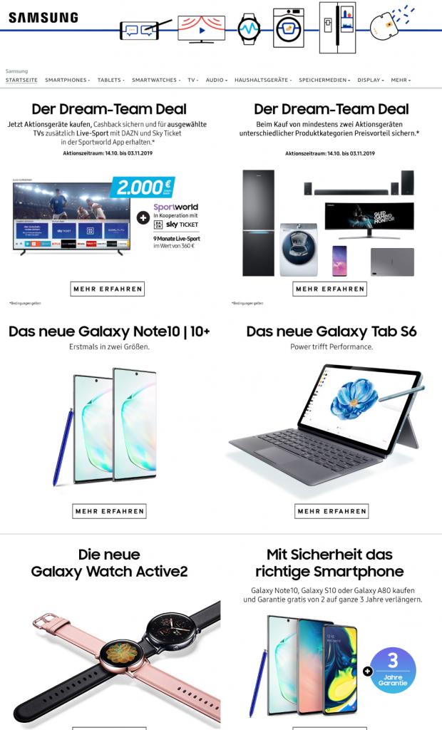 Brand Store Beispiel Samsung